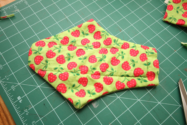 Sew with a half inch seam allowance, leaving the end open.