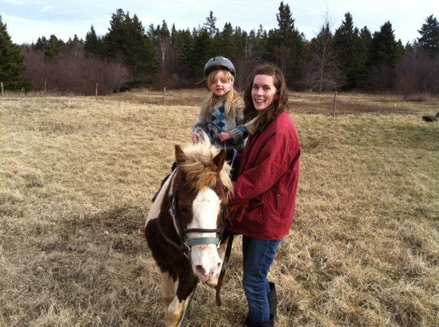Aneliese is right into owning a pony, she wants to learn everything as fast as she can.